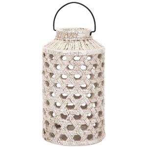 Verandah Large Cutwork Ceramic Lantern
