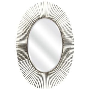 Navio Silver Leaf Abstract Wall Mirror