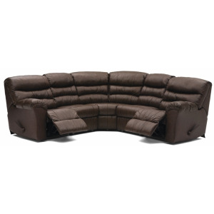 Durant Leather Reclining Sectional