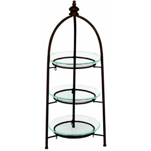 Glass & Metal 3 Tier Stand