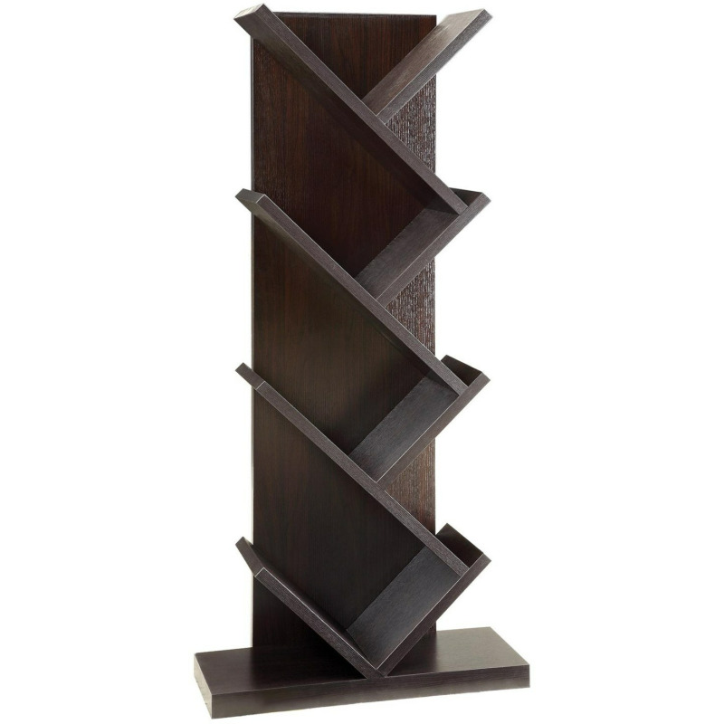 Bookcases Contemporary Bookcase With Slanted Shelves
