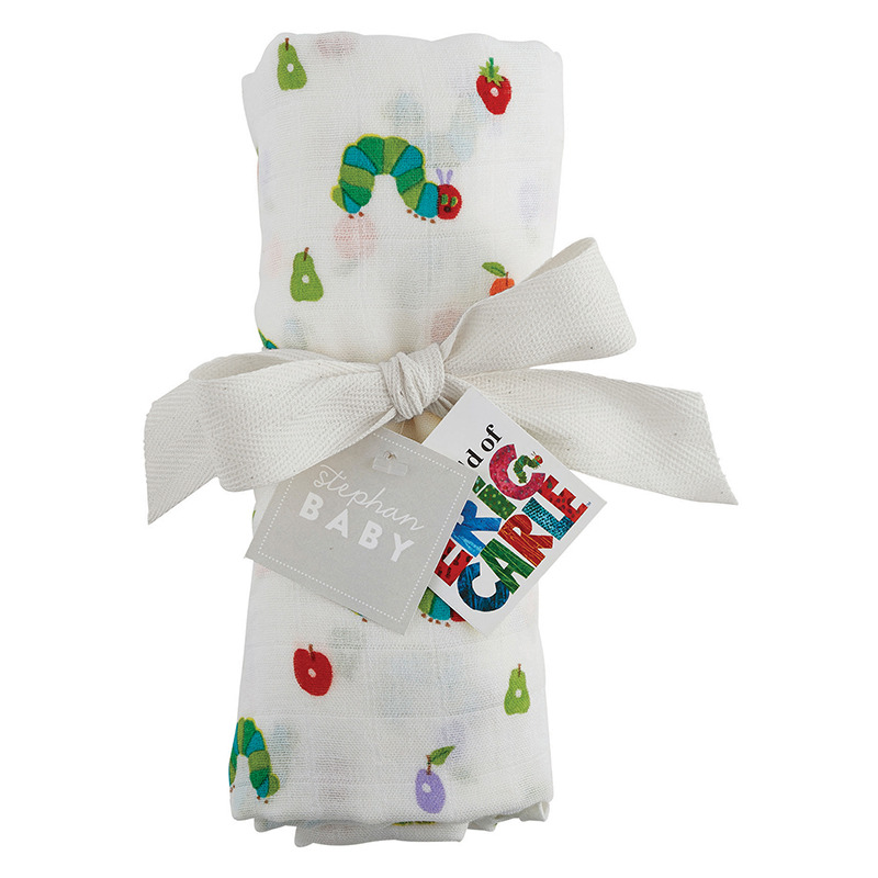 The Very Hungry Caterpillar Swaddle Blanket By Stephan Baby D2529